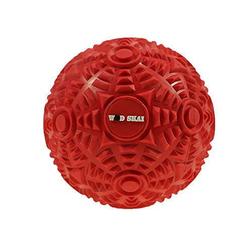 WODSKAI Massage Ball Myofascial Release Lacrosse Ball for Trigger Point Therapy, Muscle Knots, Yoga Therapeutics with 3 Kinds Bag-Free Carrying Bag (Red 12cm)