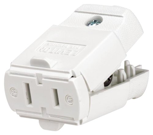 Leviton 102-WP 016-00102-0WP 15 Amp, 125 Volt, Cord outlet, 1 Pack, White ()
