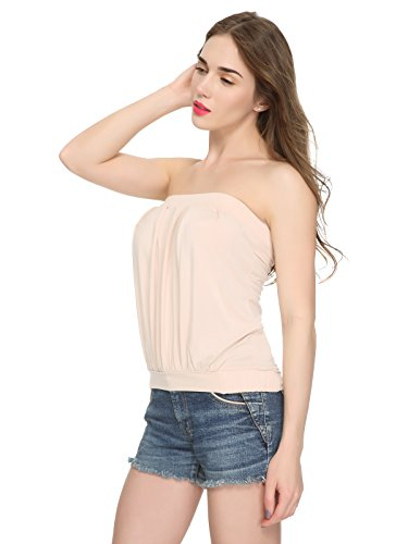 Pleated Strapless Top - 1