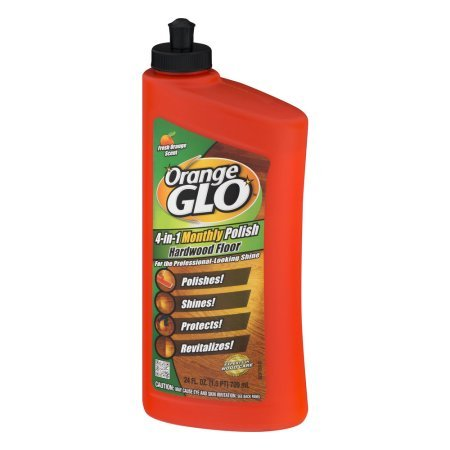 Orange Glo 4-in-1 Monthly Polish Hardwood Floor Fresh Orange Scent, 24.0 FL OZ - Pack of 12