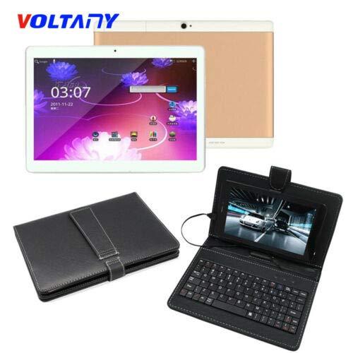 【送料込】 FidgetGear 10.1インチタブレットPCアンドロイド6.0 4 4 + 1080P 64GBデュアルSIM HD 1080P Wifi +スタンドケース+キーボード B07QHX6L8Q タブレット(ゴールド)+キーボード(ブラック) タブレット(ゴールド)+キーボード(ブラック) B07QHX6L8Q, 色々な:bf6919ea --- a0267596.xsph.ru