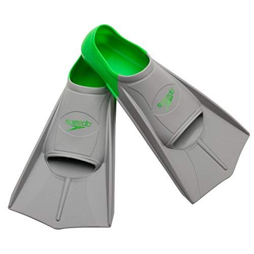 Speedo Short Blade Swim Training Fins, Green, Small