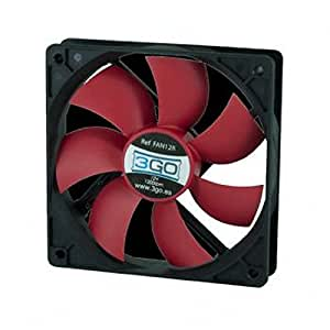3GO FAN12R - Ventilador de PC (Carcasa del ordenador, Ventilador, No compatible, No compatible, Negro, Rojo)