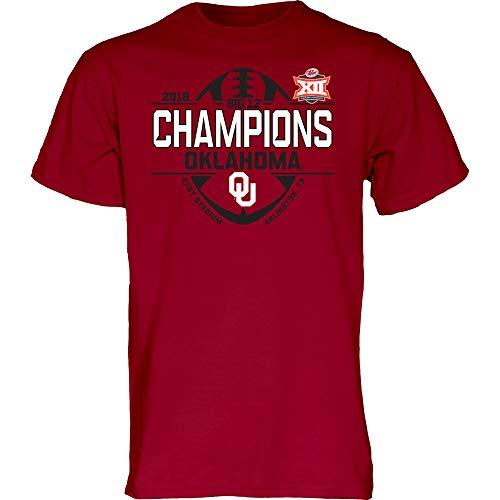 Blue 84 Oklahoma Sooners 2018 Big 12 College Football Champs Locker Room T-Shirt (L)