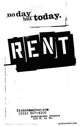 Ucland Print My Own Poster Rent Poster Broadway Theater Play 11x17 Masterposter Print, 11x17 Inches Folded Business ()