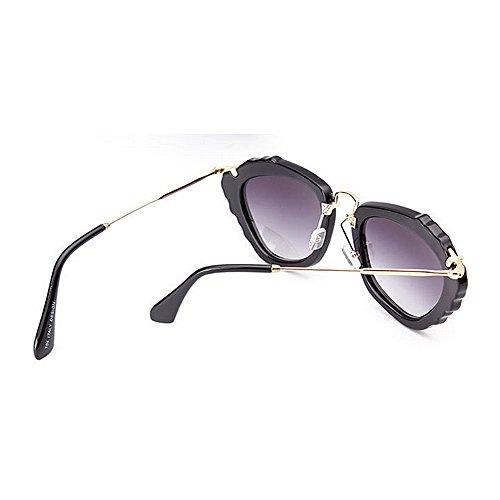 Vacaciones del Peggy del Gafas Las Verano Color Protección Playa de para Negro Irregulares Sol Mujeres de Ultravioleta para Gu de la Conducir Brillante Las la Marco Azul XgrHqwgx