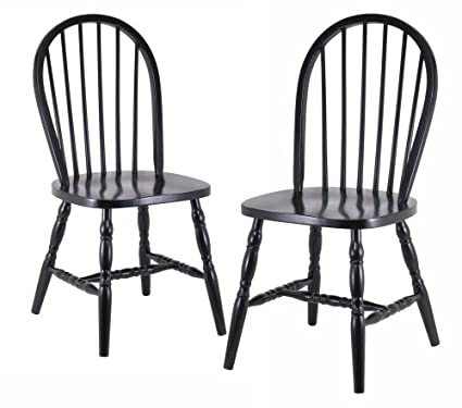 Winsome Wood Assembled 36-Inch Windsor Chairs with Curved legs Set of 2  sc 1 st  Amazon.com & Amazon.com - Winsome Wood Assembled 36-Inch Windsor Chairs with ...