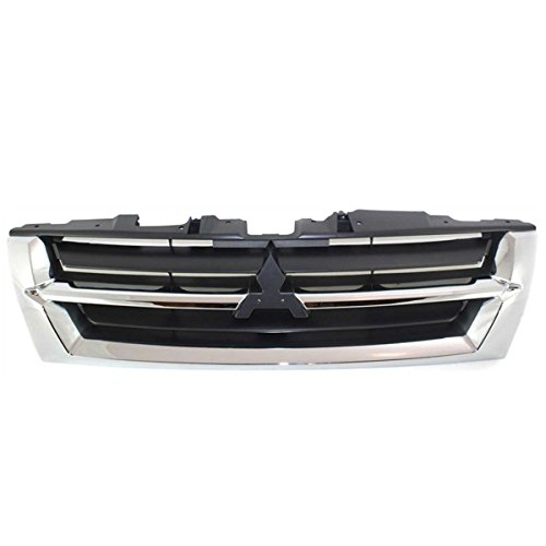 Koolzap For 01-02 Montero Front Grill Grille Assembly Chrome/Gray Insert MI1200231 MR387982 ()