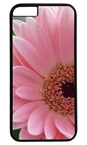 Charming Pink Flower DIY Hard Shell Black Best Designed iphone 6 plus Case