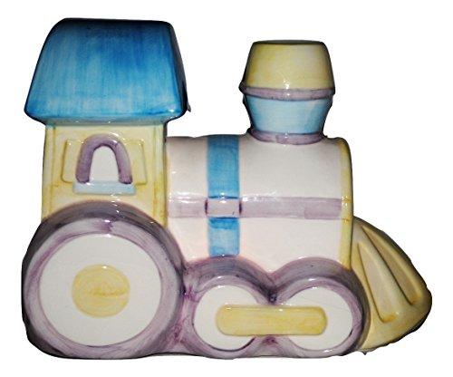Porcelain Train Engine Lamp Tabletop Night Light Baby Child's Room ()