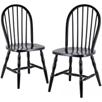 Winsome Wood Assembled 36-Inch Windsor Chairs with Curved...
