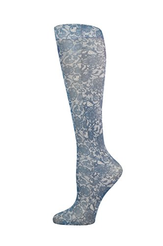 Complete Medical Blue Jay Fashion Socks 8-15mmhg, Navy Lace, 1 Pound by Complete Medical