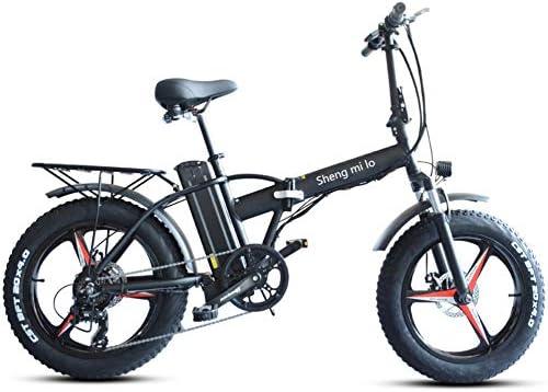 Shengmilo Bicicleta Electrica 48V Plegable - E-Bike 20
