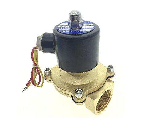 Water Air Gas Fuel Electric Solenoid Valve (Black) - 7