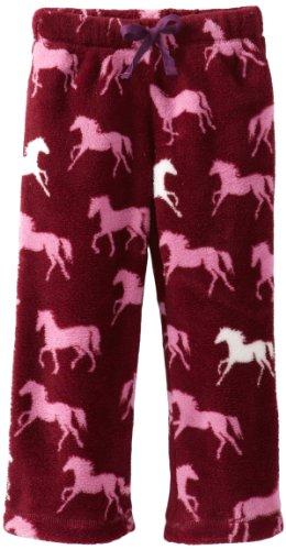 Hatley Little Fleece Pants Plaid Horses