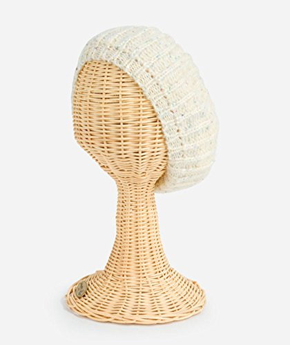 (San Diego Hat Company Women's Sequin Knit Beret, Ivory, One Size)