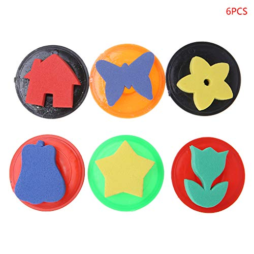 Foam Stamper - 6pcs Assorted EVA Sponge Painting Stamper Foam DIY Painting Tool For Drawing Crafts Kids Children Gift