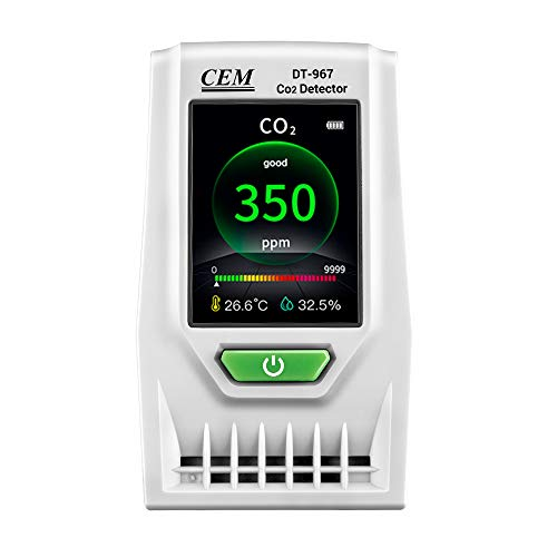 CEM DT-967 Desktop Indoor Air Quality CO2 Monitor Carbon Dioxide Detector Accurate Testing Air Quality Pollution with TEMP HUM Recording Data Logger Monitor