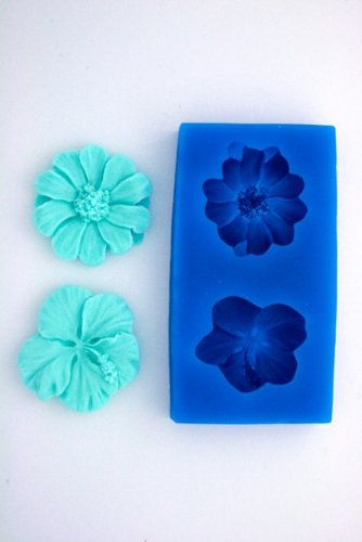HIBISCUS AND DAISY FLOWER SILICONE MOLD FOR FONDANT, GUM PASTE, CHOCOLATE, HARD CANDY, FIMO, CLAY, SOAPS by ARTSYN