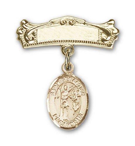 Icecarats Or Bijoux De Créateurs Rempli R. Charme Sebastian Broches Badge Arc 7/8 X 3/4