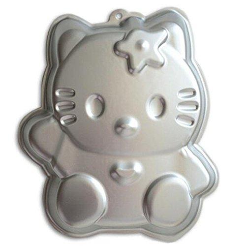 ZJWEI 12 Inch Plane Aluminum Alloy 3D Cake Mold Baking Mould Tin Cake Pan - HELLO KITTY