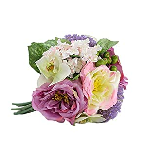 Snow Mountain Rose Artificial Flower Floral Fake Flower Rose Home Table Living Room Decoration Bouquet (Color : B) 119