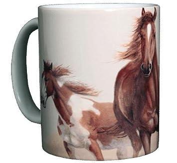 Amazon.com: Horse Themed 11 Oz. Ceramic Coffee Mug or Tea Cup: Mug ...