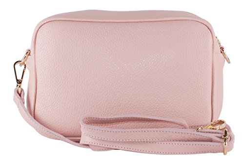 BORDERLINE - 100% Made in Italy - Echtes Leder Clutch - SUSI Pink w6GMuX
