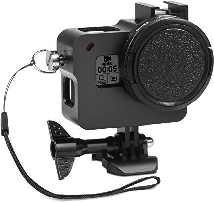 Rhodesy Aluminum Alloy Protective Case for GoPro Hero 7 Hero (2018) HD Hero 6 Hero 5, Housing Frame Case with 52mm UV Lens Filter and Cap for GoPro Hero 7/6/5 HERO 2018 Camera