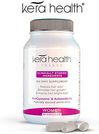Kerahealth Hair Loss Thinning Vitamin Supplement Treatment Pills For Women With Biotin and Keratin Helps in Hair Growth -Clinically Tested Made With Natural & Safe Ingredients