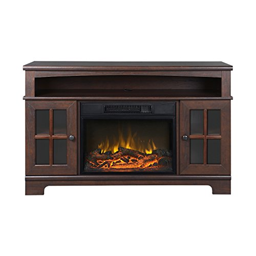 Homestar Zarate 44.5'' Wide Media Fireplace in Walnut by Home Star