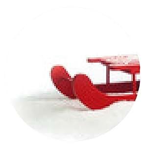 alfombrilla de ratón trineo de madera roja - ronda - 20cm
