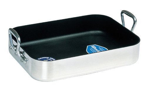 Mauviel Made In France Durminium 14-Inch Aluminum Nonstick Roasting Pan -