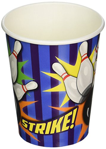 Stripes Invitation Kit (Bowling 9 Oz Cups (8 Pack) - Party Supplies)