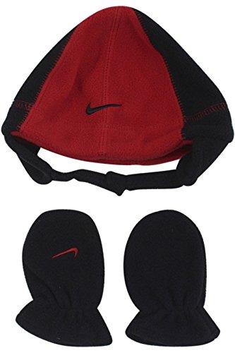 add03bc54f1 Galleon - Nike Swoosh Logo Baby Boy s 12 24 Fleece Beanie Hat   Mittens Set