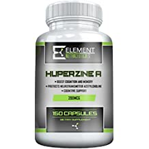 HUPERZINE A (200mcg x 150ct) by Element Nutraceuticals - Supports Healthy Cognitive Function