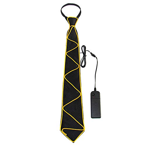 Light Up Neck Tie,LED Voice Control Glow Tie Halloween Rave Party For Men