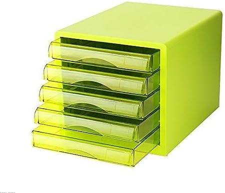 Archivador de escritorio, unidad almacenamiento escritorio, caja archivo, tamaño A4 para oficina: Amazon.es: Oficina y papelería