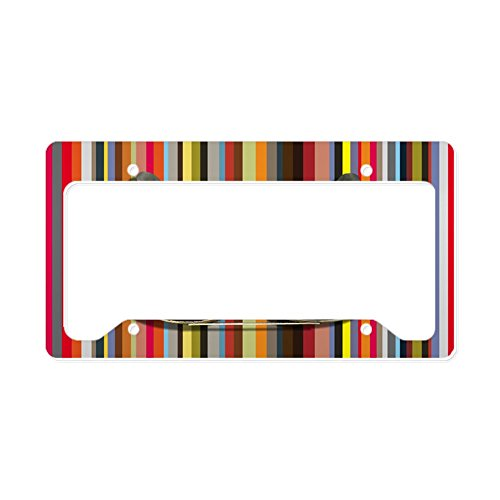 CafePress Shades of Red Aluminum License Plate Frame, License Tag Holder ()