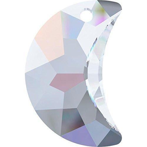 6722 Swarovski Pendant Moon | Crystal AB | 20mm - Pack of 1 | Small & Wholesale Packs