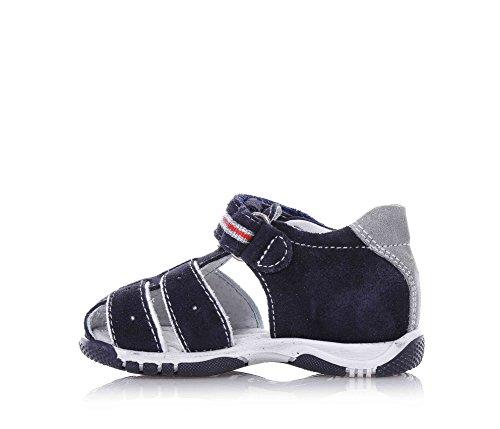 NERO GIARDINI - Blaue Schuhe aus Wildleder, mit Klettverschluss, Jungen