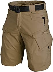 KFXFENQ Waterproof Urban Tactical Shorts for Men, Quick Dry Breathable Hiking Fishing Cargo Shorts
