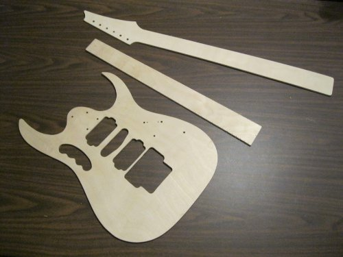 Ibanez Jem Electric Guitar Routing Templates And Full Scale - Guitar routing templates