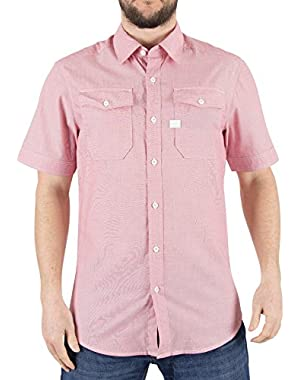 G-Star Men's Landoh Slim Fit Shirt, Pink