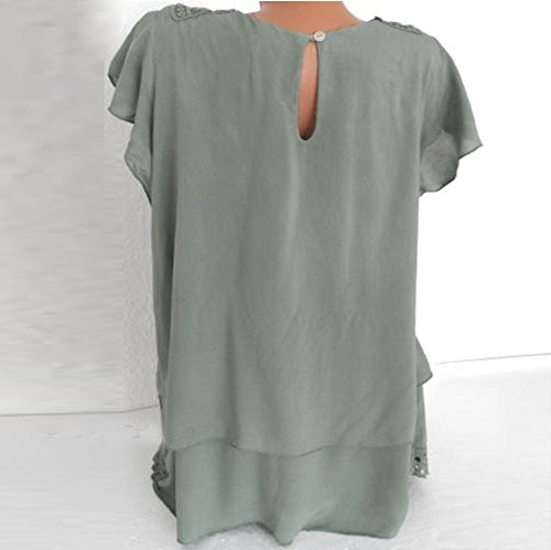 Green Femme Dentelle Chemise Couture Top Pull Fleuri Lace Solide Quotidien LGant Blouse Blouse Ravers Chic RTro Manches Tops Chandail Lady Chemisier 5wfqORpW