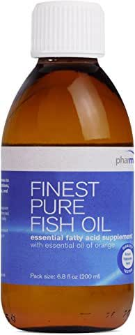 Pharmax - Finest Pure Fish Oil - EFA Supplement with Essential Oil of Orange to Support Bone, Brain, and Cardiovascular Health* - 6.8 fl oz (200 ml)