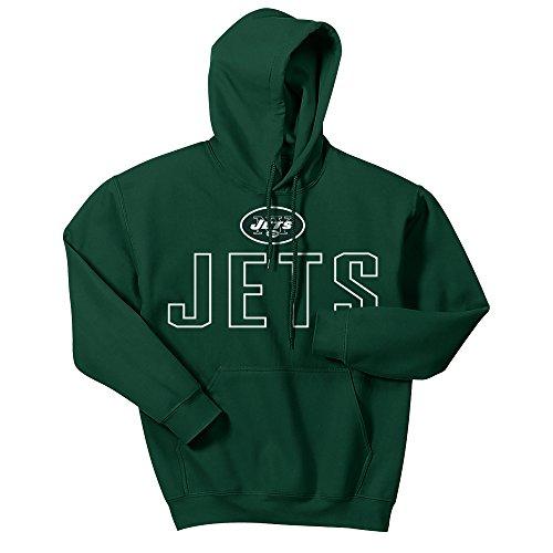 - Zubaz NFL New York Jets Men's Zubaz Open Letter logo hoodie, X-Large, Green