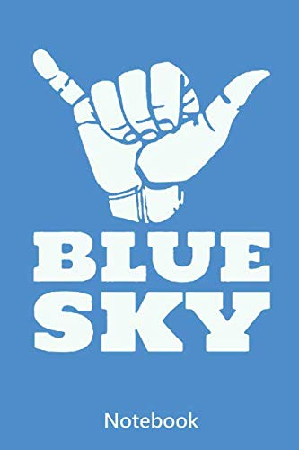 Notebook: BLUE SKY - SKYDIVING (lined paper | 100 pages)