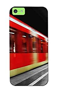 Anti-scratch And Shatterproof Alone In Train Station Phone Case For Iphone 5c/ High Quality Tpu Case