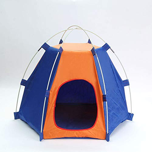 MXY Portable Folding Dog Tent Cat House Bed, Outdoor Waterproof Animals Shelter Wigwam, Summer Beach Sunscreen Rabbit,Travel Camping pet Cage,Blue